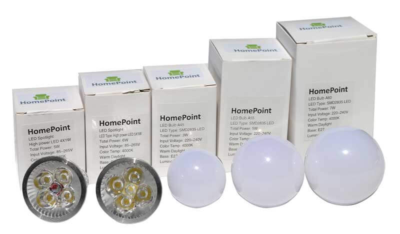 LED Bulbs with boxes