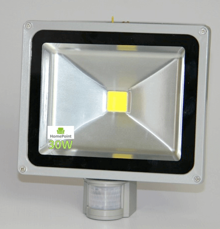 LED Flood Light 30W with PIR (Motion Sensor and Day/Night Switch)