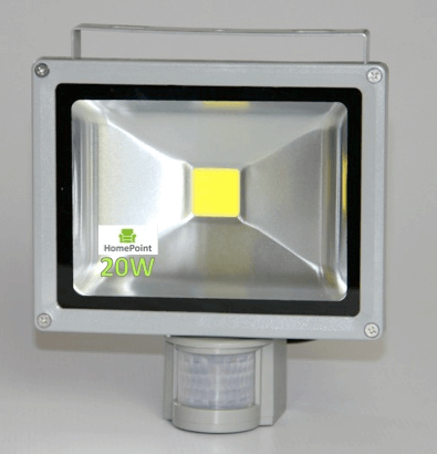 Led Flood Light 20w With Pir Motion Sensor And Day Night